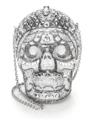 Judith Leiber Couture skull katerina crystal clutch