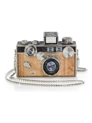 Judith Leiber Couture camera click crystal clutch