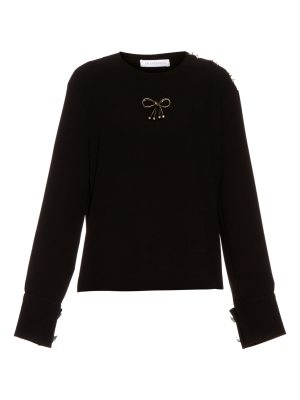 J.W.ANDERSON Bow-embellished crepe top