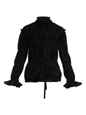 J.W.ANDERSON High-neck pleated crepe de Chine jacket