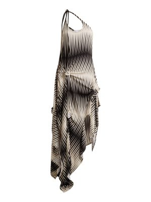 J.W.ANDERSON One-shoulder asymmetric printed jersey dress