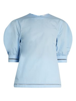 J.W.ANDERSON Puff-sleeved cotton top