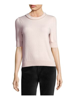 Kate Spade New York faux pearl embellished sweater