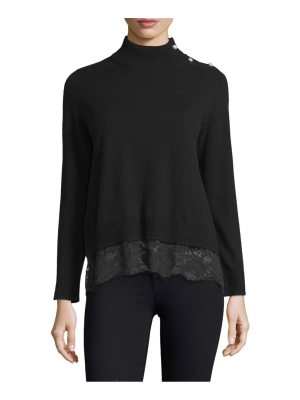 Kate Spade New York lace inset sweater