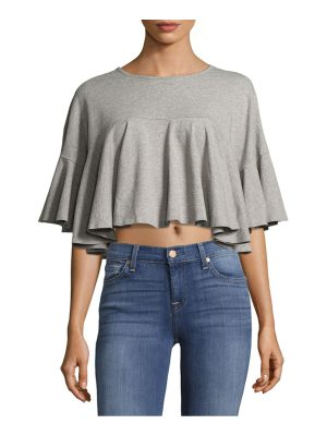 KENDALL + KYLIE Cropped Flutter Sleeve Top