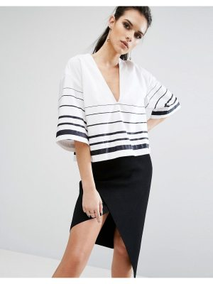 KENDALL + KYLIE printed boxy top