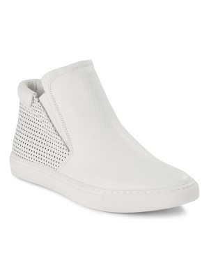 Kenneth Cole Leather Slip-On Sneakers
