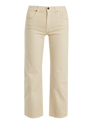 KHAITE wendall cropped wide leg jeans