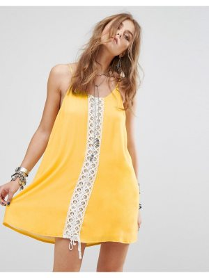 Kiss The Sky Festival Cami Dress With Lace Panel