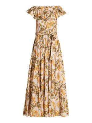 LA DOUBLEJ floral print stretch woven dress