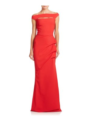 Chiara Boni La Petite Robe melania off-the-shoulder gown
