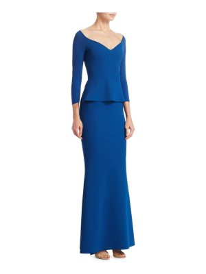 Chiara Boni La Petite Robe quarter-sleeve formal gown