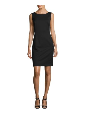 Lafayette 148 New York Carol Sleeveless Stretch-Wool Sheath Dress
