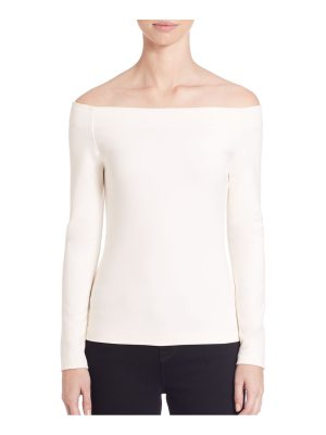 L'AGENCE cynthia off-the-shoulder top