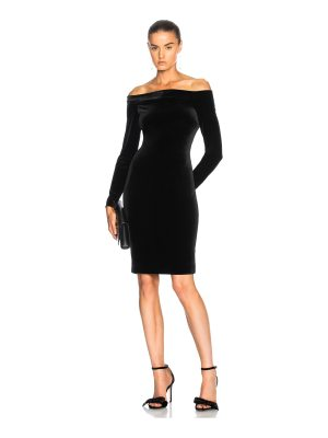 L'AGENCE Daphne Off Shoulder Velvet Dress
