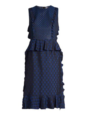 Lanvin Ruffled jacquard dress