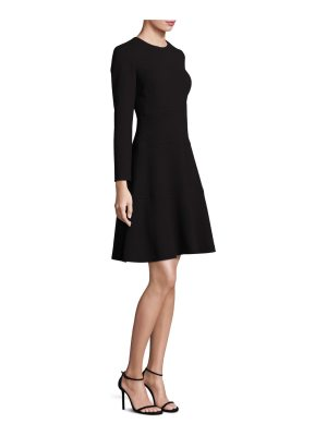 Lela Rose long-sleeve crepe dress