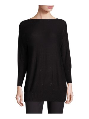 Lela Rose sequin-embellished boatneck sweater