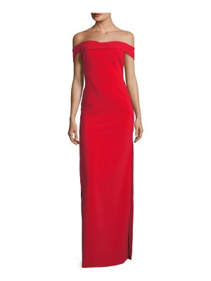 LIKELY Darrah Off-the-Shoulder Column Gown