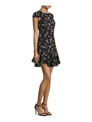 LIKELY floral cap sleeve dress
