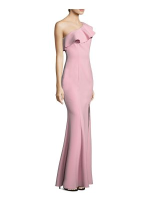 LIKELY kane ruffle one-shoulder gown