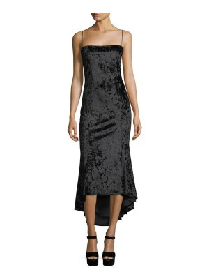 LIKELY Winslow Square-Neck Sleeveless Crushed Velvet Cocktail Dress