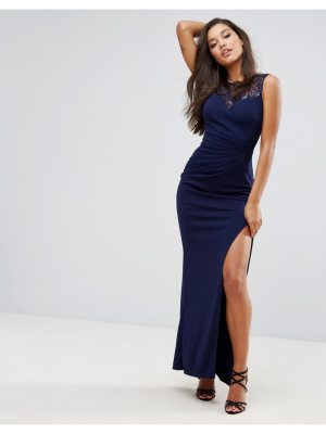 Lipsy Sweetheart Maxi Dress With Sequin Lace Trim