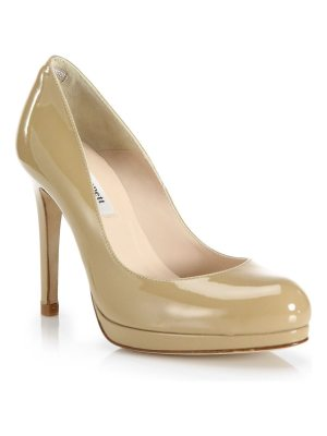 L.K. Bennett sledge patent leather pumps