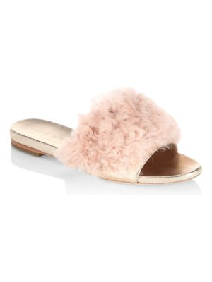 Loeffler Randall domino shearling slide sandals