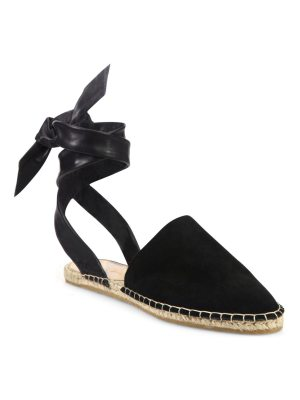 Loeffler Randall heloise suede & leather ankle-wrap espadrilles