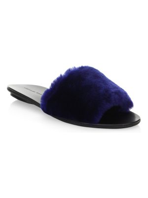 Loeffler Randall isabel fur slide sandals