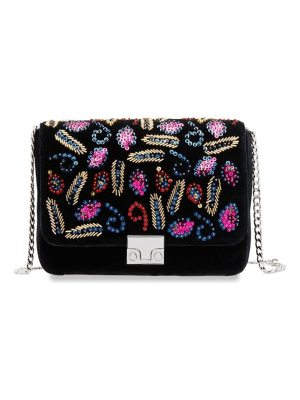Loeffler Randall lock velvet shoulder bag