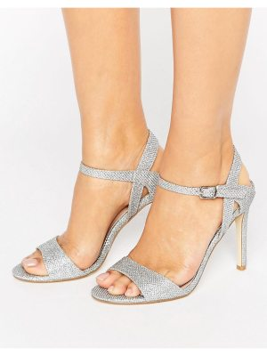 London Rebel Barely There Glitter Heeled Sandal