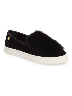 Louise et Cie bershner genuine rabbit fur slip-on sneaker