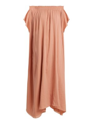 LOUP CHARMANT hydra off the shoulder organic cotton dress