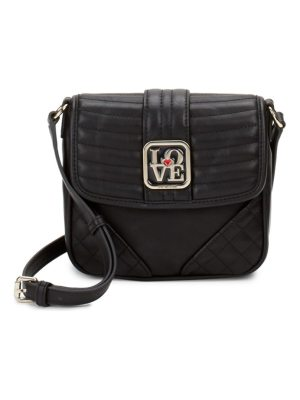 Love Moschino Flap Faux Leather Crossbody Bag