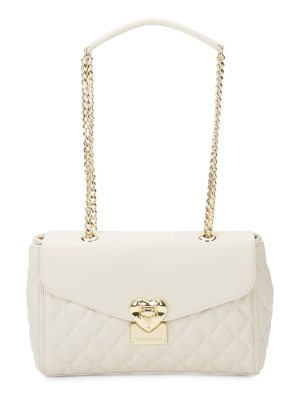 Love Moschino Heart Quilted Faux Leather Bag