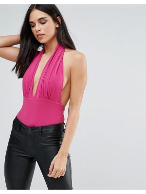 Love Plunge Halter Neck Bodysuit
