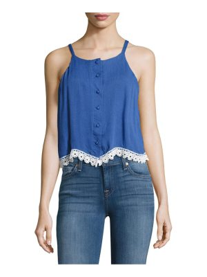 Lovers + Friends Front-Button Sleeveless Top