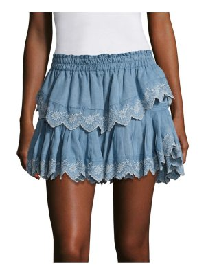 LOVESHACKFANCY ruffled tiered mini skirt