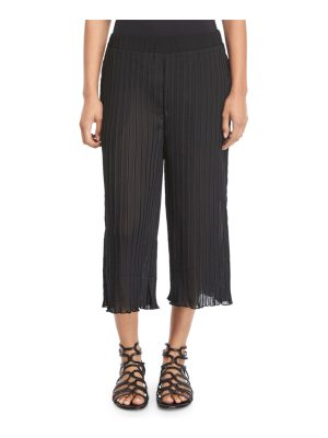 Luxe by Lisa Vogel Plisse Pocketed Beach Pants