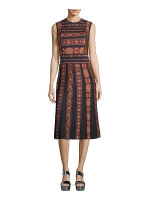 M Missoni Sleeveless Ribbon Jacquard Knit A-Line Dress