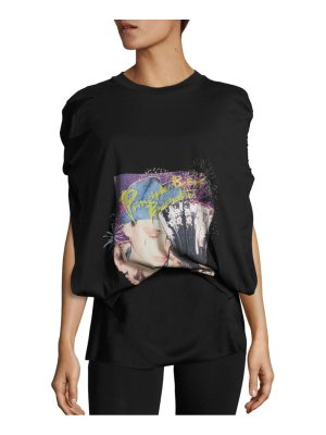 Maison Margiela Satin Twisted Back Graphic Top