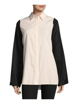 Maison Margiela Two-Tone Button-Down Shirt