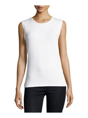 Majestic Filatures Soft Touch Sleeveless Crew