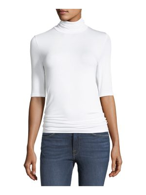 Majestic Paris for Neiman Marcus Soft Touch Half-Sleeve Turtleneck