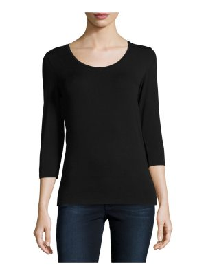 Majestic Filatures Soft Touch 3/4-Sleeve Scoop-Neck Tee
