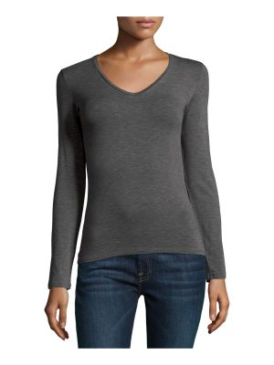 Majestic Paris for Neiman Marcus Soft Touch Long-Sleeve V-Neck Tee