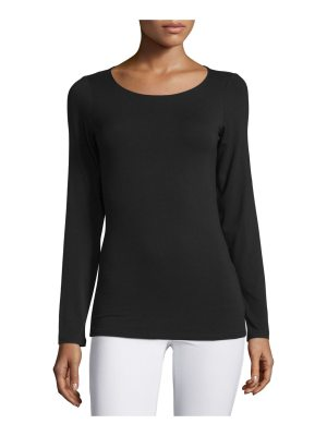 Majestic Filatures Soft Touch Marrow-Edge Long-Sleeve Top