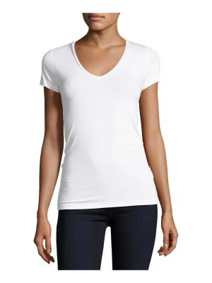 Majestic Paris for Neiman Marcus Soft Touch Short-Sleeve V-Neck Tee